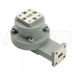 28WRJL-26C_Cu WR28 L-Type Single Channel Waveguide Rotary Joint 28-30GHz with Two Rectangular Waveguide Interfaces