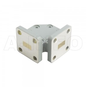 28WTHB-15-15_Cu WR28 Miter Bend Waveguide H-Plane 26.5-40GHz with Two Rectangular Waveguide Interfaces