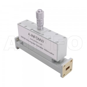 28WVA-20_Cu WR28 Waveguide Variable Attenuator 26.5-40GHz with with Two Rectangular Waveguide Interfaces