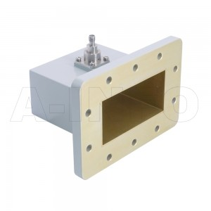 340WCAS Right Angle Rectangular Waveguide to Coaxial Adapter 2.2-3.3GHz WR340 to SMA Female