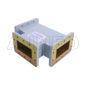 340WHT WR340 Waveguide H-Plane Tee 2.2-3.3GHz with Three Rectangular Waveguide Interfaces