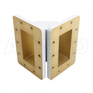 340WTEB-60-60 WR340 Miter Bend Waveguide E-Plane 2.2-3.3GHz with Two Rectangular Waveguide Interfaces