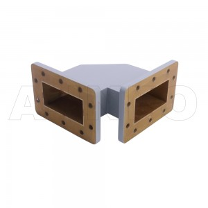 340WTHB-60-60 WR340 Miter Bend Waveguide H-Plane 2.2-3.3GHz with Two Rectangular Waveguide Interfaces