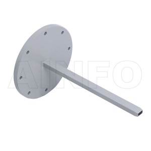 34EWG Open Ended Waveguide Probe 22-33GHz 5dB Gain Rectangular Waveguide Interface