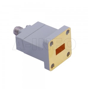 34WECAK_Cu Endlaunch Rectangular Waveguide to Coaxial Adapter 22-33GHz WR34 to 2.92mm Female
