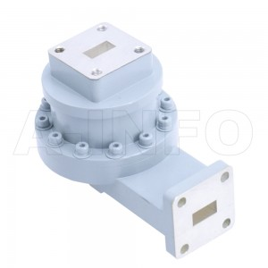 34WRJL-16D_Cu WR34 L-Type Single Channel Waveguide Rotary Joint 24-30GHz with Two Rectangular Waveguide Interfaces