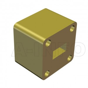 34WSPA-17_Cu WR34 Customized Spacer(Shim) 22-33GHz with Rectangular Waveguide Interfaces