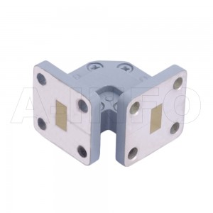 34WTEB-20-20_Cu WR34 Miter Bend Waveguide E-Plane 22-33GHz with Two Rectangular Waveguide Interfaces