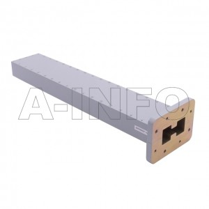 350DRWLPL WRD350 Double Ridge Waveguide Low Power Load 3.5-8.2GHz with Rectangular Waveguide Interface