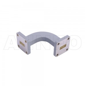 42WHB-35-35-20 WR42 Radius Bend Waveguide H-Plane 18-26.5GHz with Two Rectangular Waveguide Interfaces