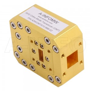 42WOMTS10.668-02 WR42 Waveguide Ortho-Mode Transducer(OMT) 18-26.5GHz 10.668mm(0.42inch) Square Waveguide Common Port