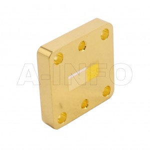 42WSPA14_Cu WR42 Wavelength 1/4 Spacer(Shim) 18-26.5GHz with Rectangular Waveguide Interfaces