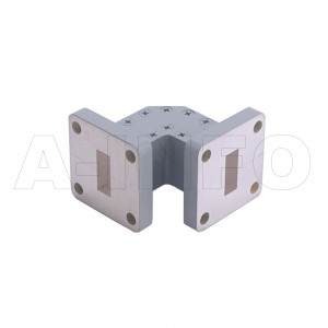 42WTEB-20-20_Cu WR42 Miter Bend Waveguide E-Plane 18-26.5GHz with Two Rectangular Waveguide Interfaces