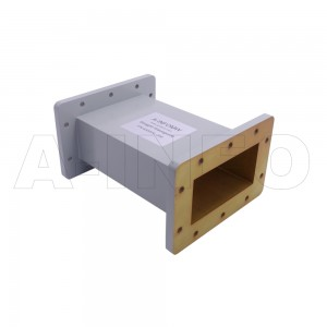 430WAL-200 WR430 Rectangular Straight Waveguide 1.7-2.6GHz with Two Rectangular Waveguide Interfaces