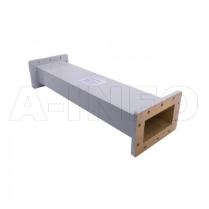 430WAL-500 WR430 Rectangular Straight Waveguide 1.7-2.6GHz with Two Rectangular Waveguide Interfaces
