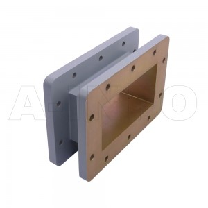 430WAL-50 WR430 Rectangular Straight Waveguide 1.7-2.6GHz with Two Rectangular Waveguide Interfaces