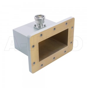 430WCA7/16 Right Angle Rectangular Waveguide to Coaxial Adapter 1.7-2.6GHz WR430 to 7/16 DIN Female