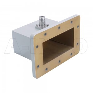 430WCAN Right Angle Rectangular Waveguide to Coaxial Adapter 1.7-2.6GHz WR430 to N Type Female