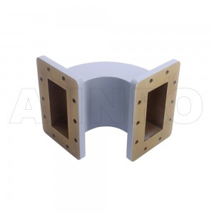 430WEB-190-190-95 WR430 Radius Bend Waveguide E-Plane 1.7-2.6GHz with Two Rectangular Waveguide Interfaces