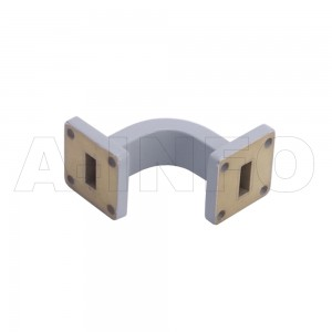 51WEB-30-30-15 WR51 Radius Bend Waveguide E-Plane 15-22GHz with Two Rectangular Waveguide Interfaces