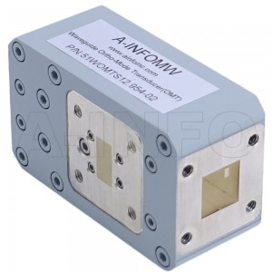 51WOMTS12.954-02 WR51 Waveguide Ortho-Mode Transducer(OMT) 15-22GHz 12.954mm(0.51inch) Square Waveguide Common Port