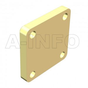 51WS_Cu_PB WR51 Waveguide Short Plates 15-22GHz with Rectangular Waveguide Interface