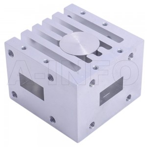 62WCIC-124180-20-100 WR62 Waveguide Circulator 12.4-18Ghz with Three Rectangular Waveguide Interfaces