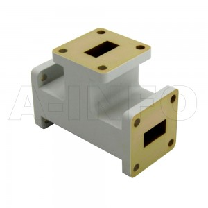 62WET WR62 Waveguide E-Plane Tee 12.4-18GHz with Three Rectangular Waveguide Interfaces