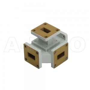 62WMT WR62 Waveguide Magic Tee 12.4-18GHz with Four Rectangular Waveguide Interfaces