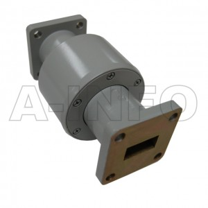 62WRJI-26C WR62 I-Type Single Channel Waveguide Rotary Joint 16-17GHz with Two Rectangular Waveguide Interfaces