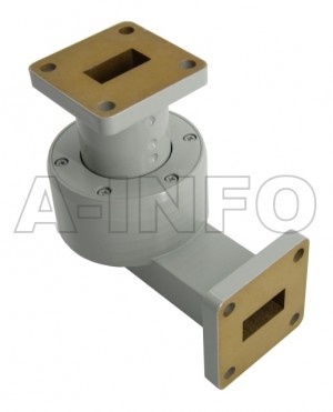 62WRJL-26C WR62 L-Type Single Channel Waveguide Rotary Joint 16-17GHz with Two Rectangular Waveguide Interfaces