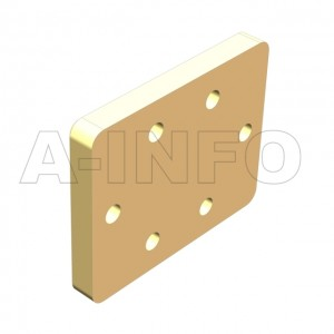 62WS_Cu_DP WR62 Waveguide Short Plates 12.4-18GHz with Rectangular Waveguide Interface