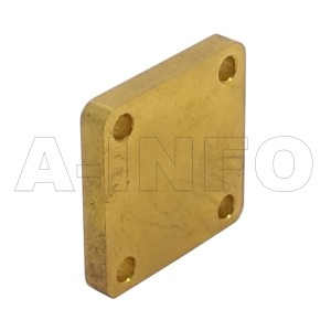 62WS_Cu WR62 Waveguide Short Plates 12.4-18GHz with Rectangular Waveguide Interface