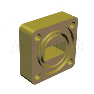 62WSPA-11_Cu_BEBE WR62 Customized Spacer(Shim) 12.4-18GHz with Rectangular Waveguide Interfaces