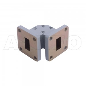 62WTEB-25-25 WR62 Miter Bend Waveguide E-Plane 12.4-18GHz with Two Rectangular Waveguide Interfaces
