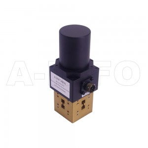 650DRWDESMD WRD650 Double Ridge Waveguide DPDT Latching Switch 6.5-18GHz E plane with four Double Ridge Waveguide Interfaces