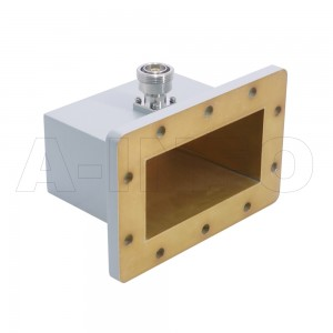 650WCA7/16 Right Angle Rectangular Waveguide to Coaxial Adapter 1.12-1.7GHz WR650 to 7/16 DIN Female