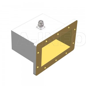 975WCANM Right Angle Rectangular Waveguide to Coaxial Adapter 0.75-1.12GHz WR975 to N Type Male