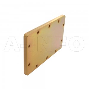 650WS WR650 Waveguide Short Plates 1.12-1.7GHz with Rectangular Waveguide Interface