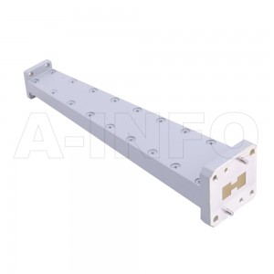 750D28WA-152.4 Double Ridge to Rectangular Waveguide Transition 26.5-40GHz 152.4mm(6inch) WRD750 to WR28