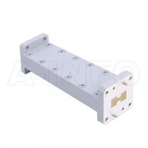 750D51WA-101.6 Double Ridge to Rectangular Waveguide Transition 15-18GHz 101.6mm(4inch) WRD750 to WR51
