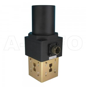750DRWESMD WRD750 Double Ridge Waveguide SPDT Latching Switch 7.5-18GHz E plane with three Double Ridge Waveguide Interfaces