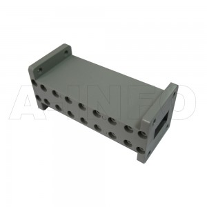 75LB-LP-10000-12500 WR75 Waveguide Low Pass Filter 10-15Ghz with Two Rectangular Waveguide Interfaces
