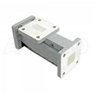 75WOMTS13.8-26 WR75 Waveguide Ortho-Mode Transducer(OMT) 12-15GHz 13.8mm(0.543inch) Square Waveguide Common Port