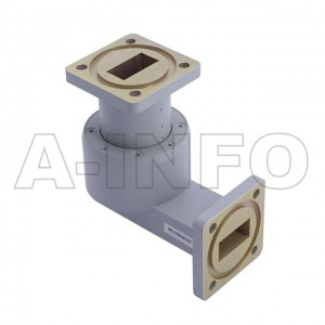 75WRJL-26C_BMBM WR75 L-Type Single Channel Waveguide Rotary Joint 14-14.5GHz with Two Rectangular Waveguide Interfaces