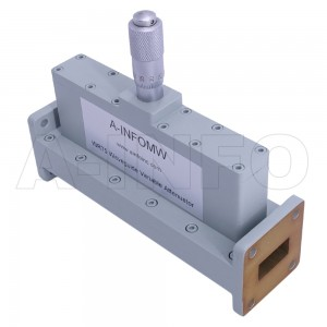 75WVA-30 WR75 Waveguide Variable Attenuator 10-15GHz with with Two Rectangular Waveguide Interfaces