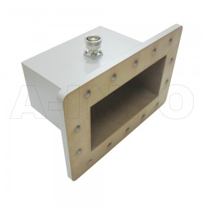 770WCA7/16 Right Angle Rectangular Waveguide to Coaxial Adapter 0.96-1.45GHz WR770 to 7/16 DIN Female