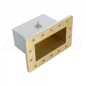 770WCAS Right Angle Rectangular Waveguide to Coaxial Adapter 0.96-1.45GHz WR770 to SMA Female