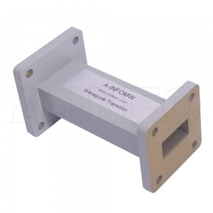 9075WA-76.2 Rectangular to Rectangular Waveguide Transition 10-12.4GHz 76.2mm(3inch) WR90 to WR75
