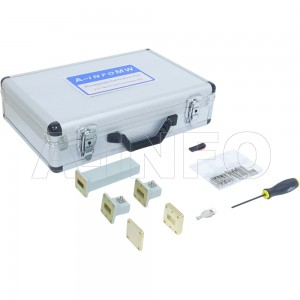 90CLKA1-SRFRF_PB WR90 Standard CLKA1 Series Waveguide Calibration Kits 8.2-12.4GHz with Rectangular Waveguide Interface